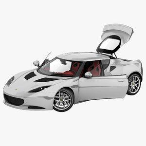 3d model evora s 2013 rigged car