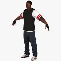 3d black male