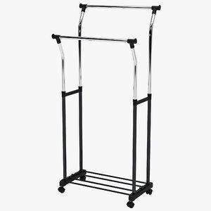 adjustable garment rack 3ds