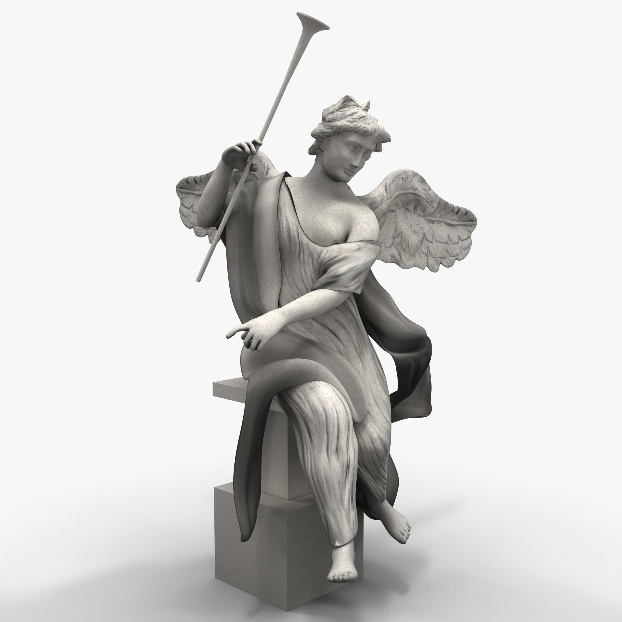 3d model angel statuette 5 statue