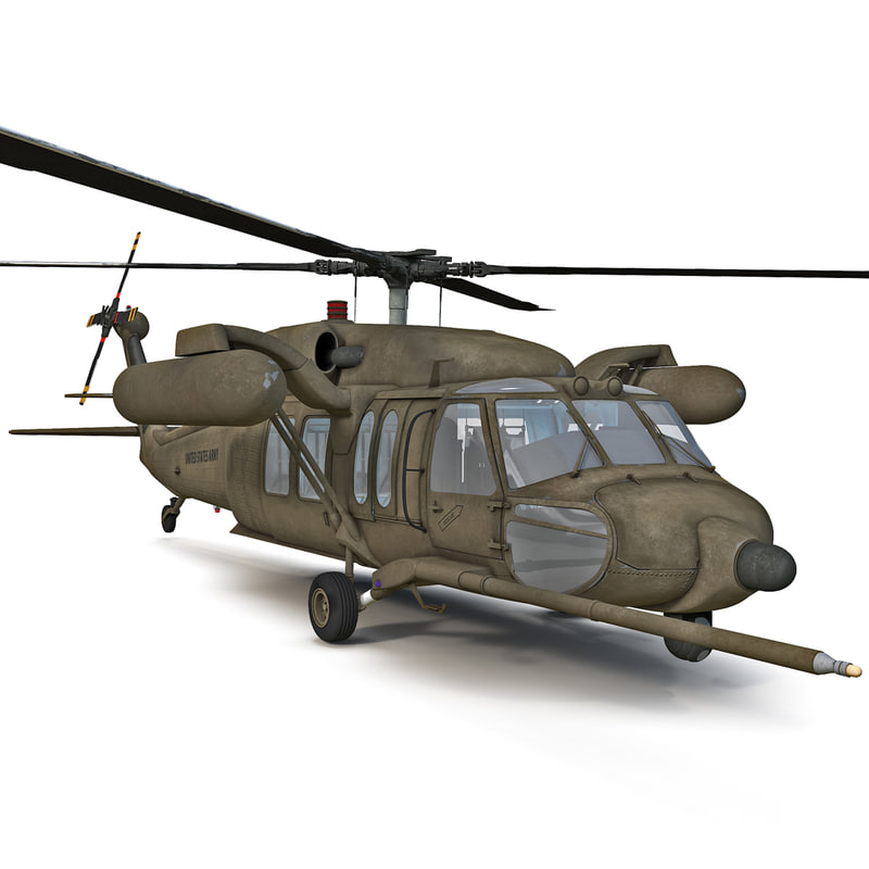 max mh-60 black hawk helicopter