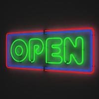 Neon Sign Open 2