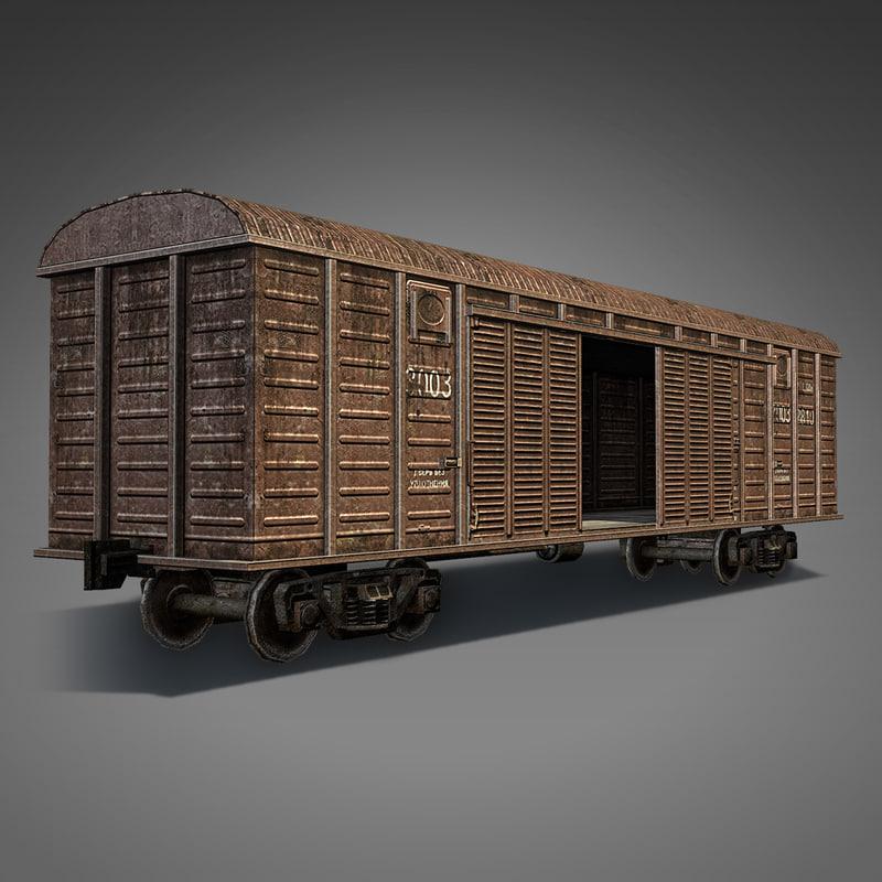 boxcar car 3d model
