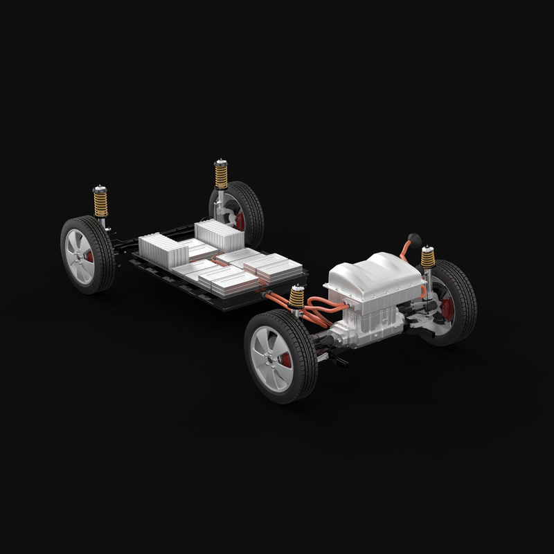 electric car chassis 3d model