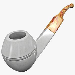 3d meerschaum english pipe