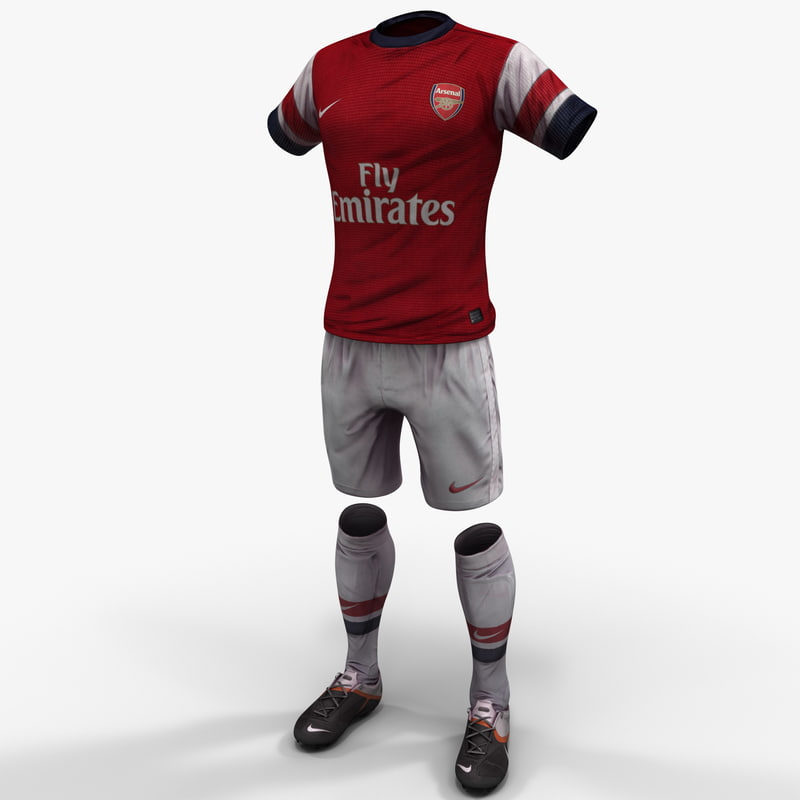 3d soccer clothes model