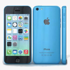 apple iphone 5c blue 3ds