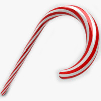 christmas candy cane 3d 3ds