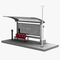 3d bus stop v10 model