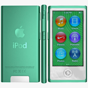 3d apple ipod nano model