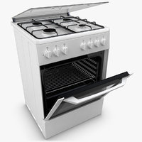 3d realistic beko oven white model