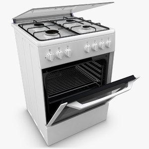 3d realistic beko oven white model