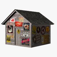 3d shed model