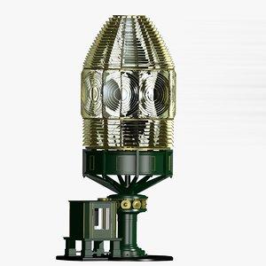 fresnel lens lighthouse light 3d ma