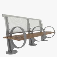 3d model new york park bench