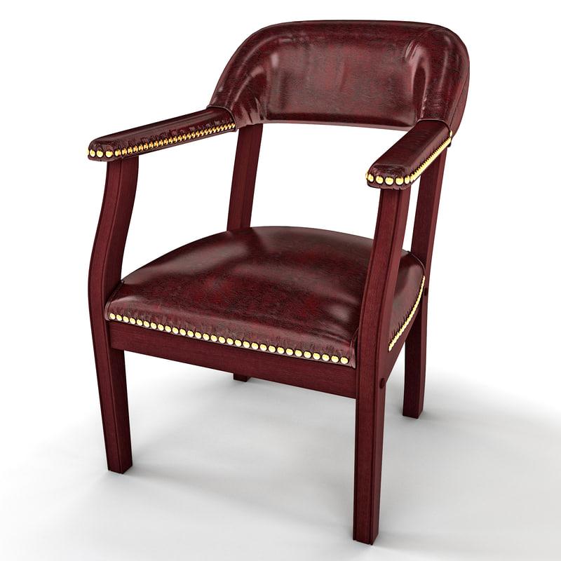 captains chair 3d model
