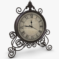 classic table clock 3d model