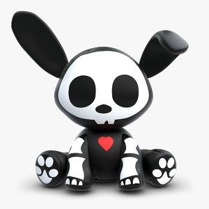 3ds rabbit toy animal