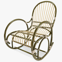 rattan rocking chair 3d model
