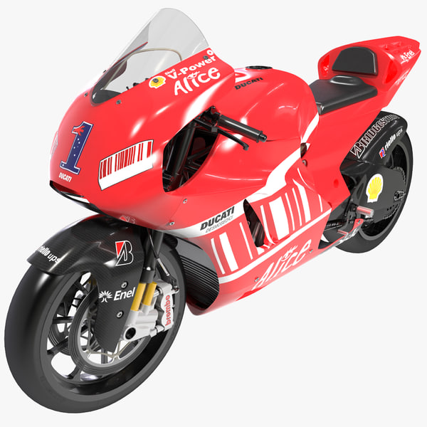 3d model ducati desmosedici gp8 2008