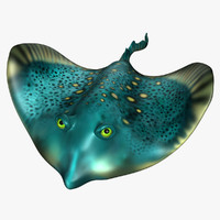 stingray character sea 3d obj