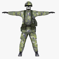 Uniform Swedish Infantryman