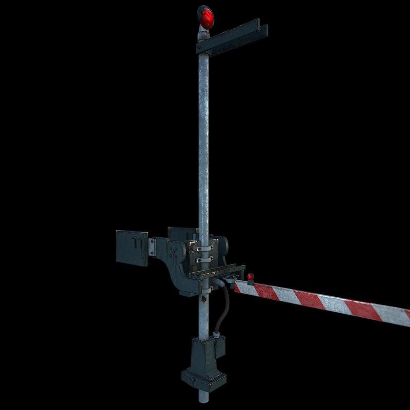 3d railroad fence arm -