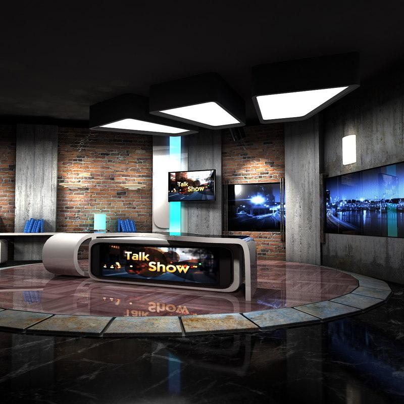 maya virtual set talkshows studio