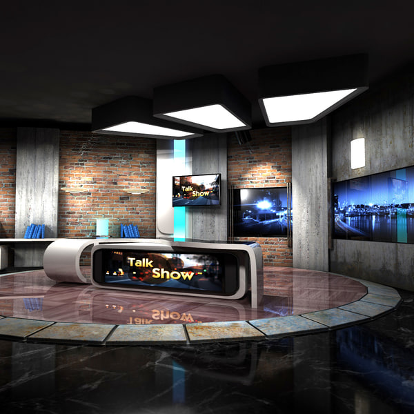maya virtual set talkshows studio