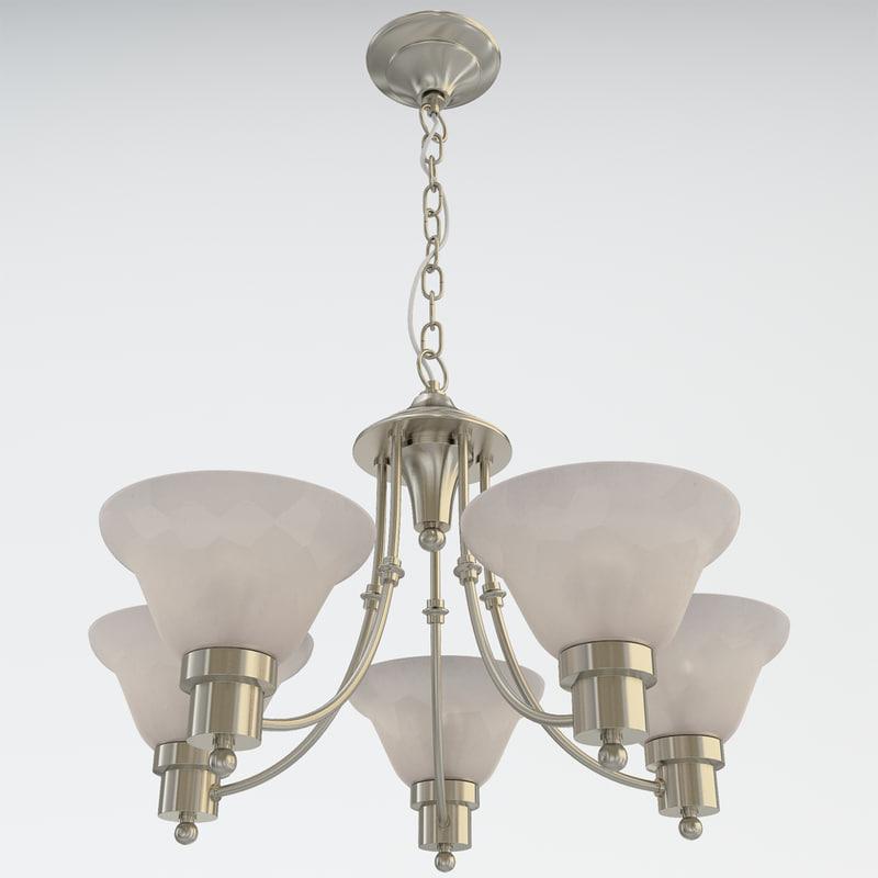 3ds max bristol 5-light chandelier