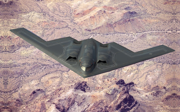 b2a stealth bomber spirit 3d model