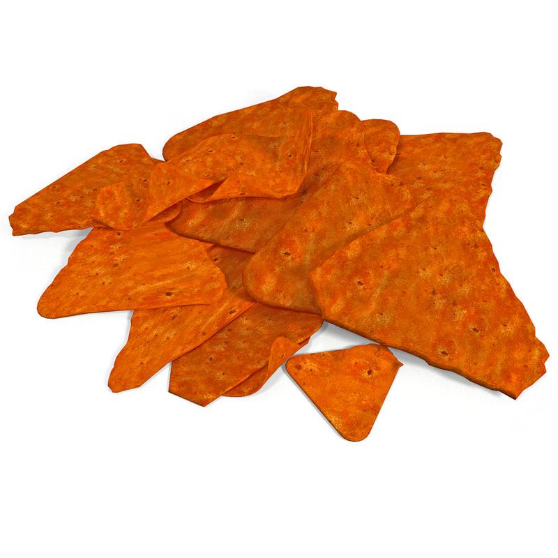 doritos chips 3d model