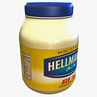 3d mayonnaise bottle hellmans model