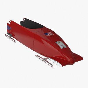2-man bobsleigh 3d model