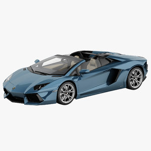 3d lamborghini aventador lp700-4 roadster model