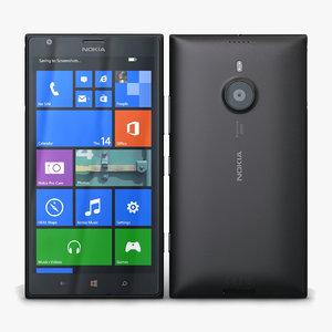 nokia lumia 1520 black 3d max