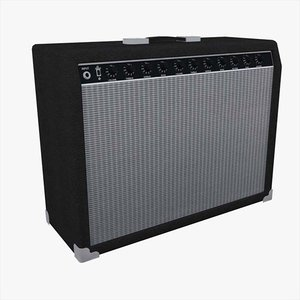 3d model guitar amplifier