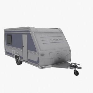 travel trailer lp 3d model