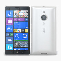 nokia lumia 1520 white 3d model