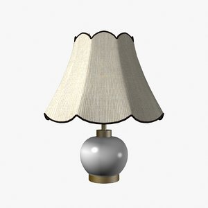 3d porcelain lamp model