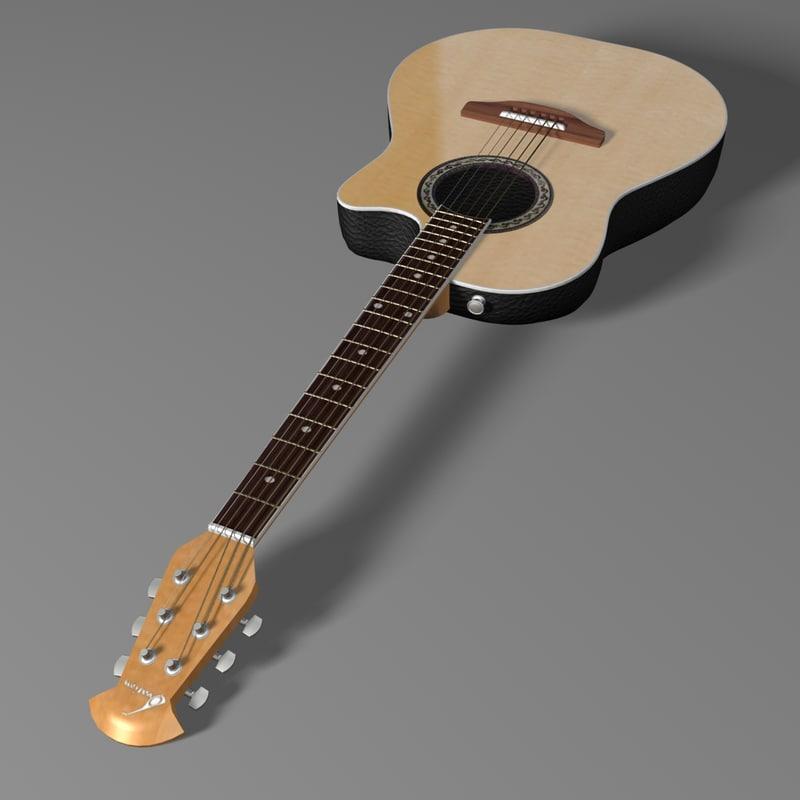 ovation guitar 3d max