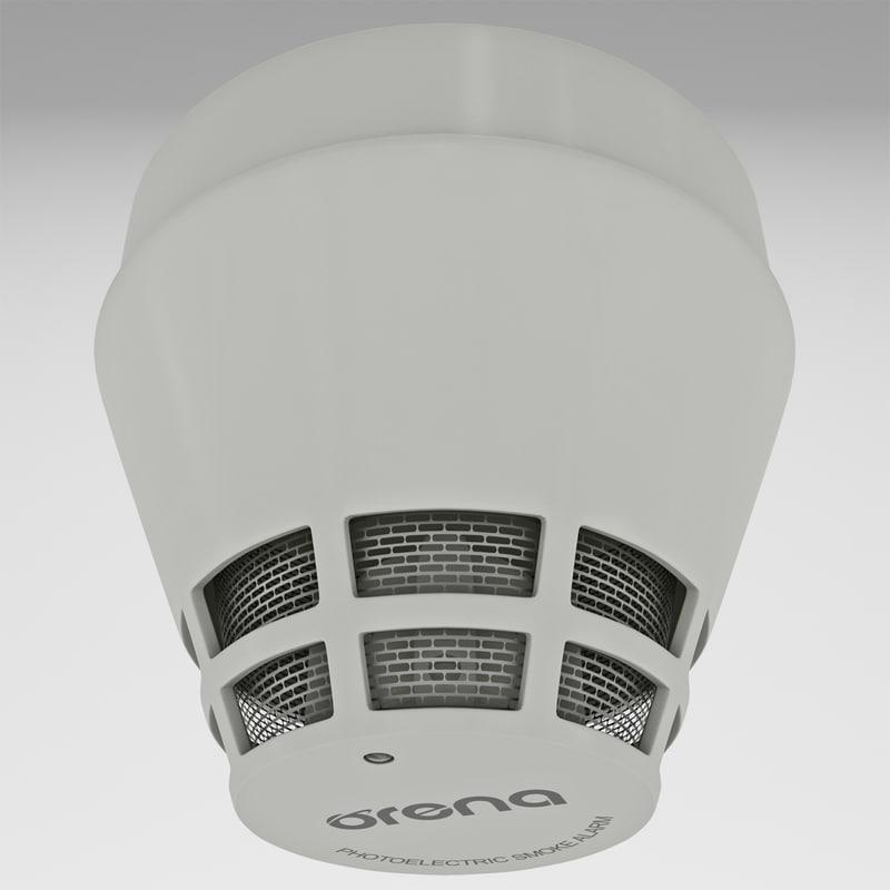 smoke detector 4 3d model