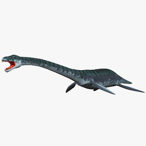 3d plesiosaur prehistoric modeled