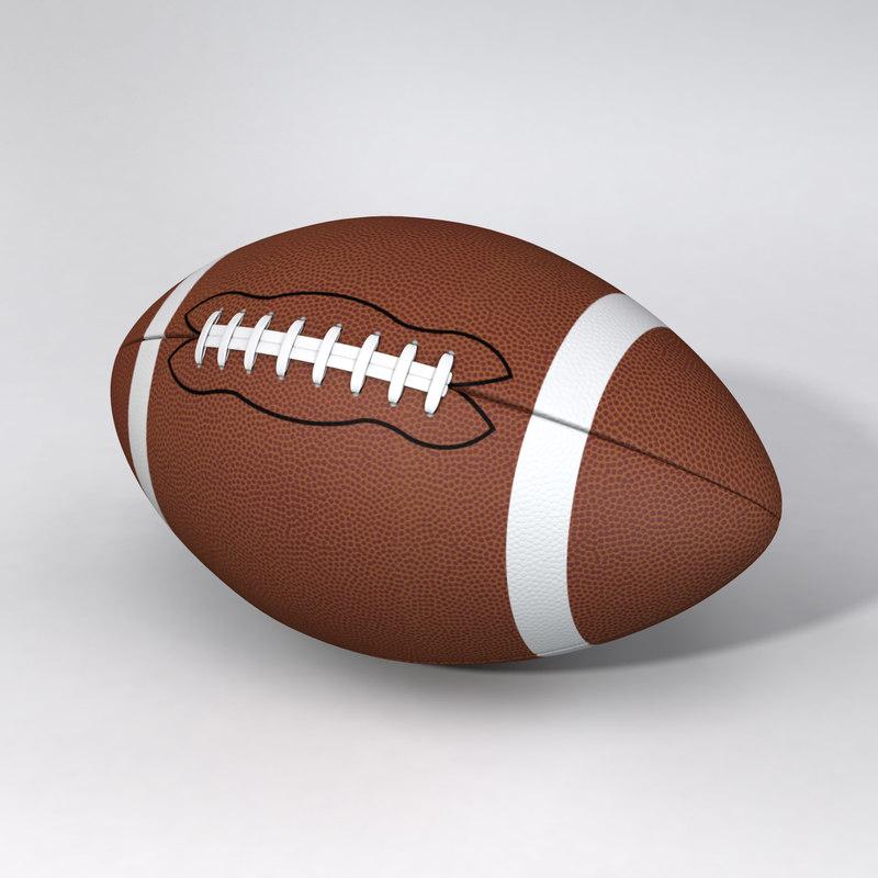 3d model american ball