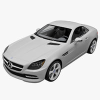 Mercedes Benz SLK Coupe 2013 Rigged