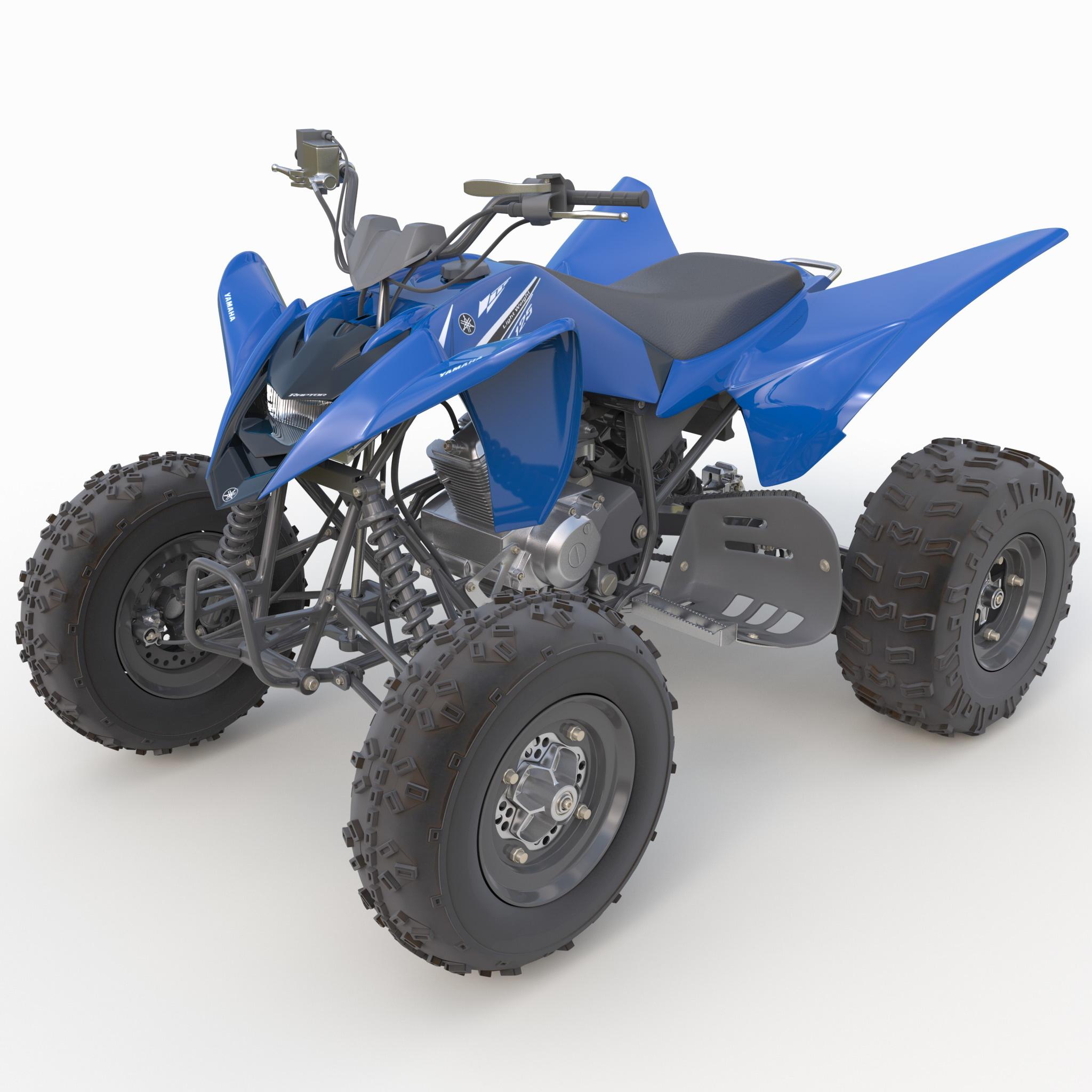 3d sport atv yamaha raptor model