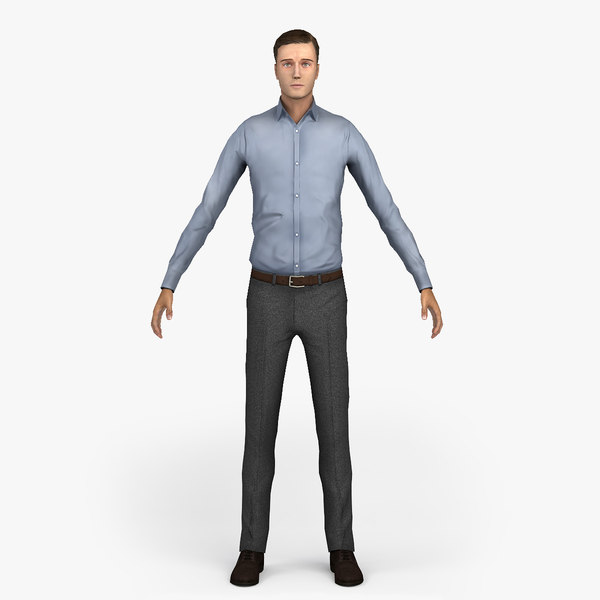 3ds max man character people