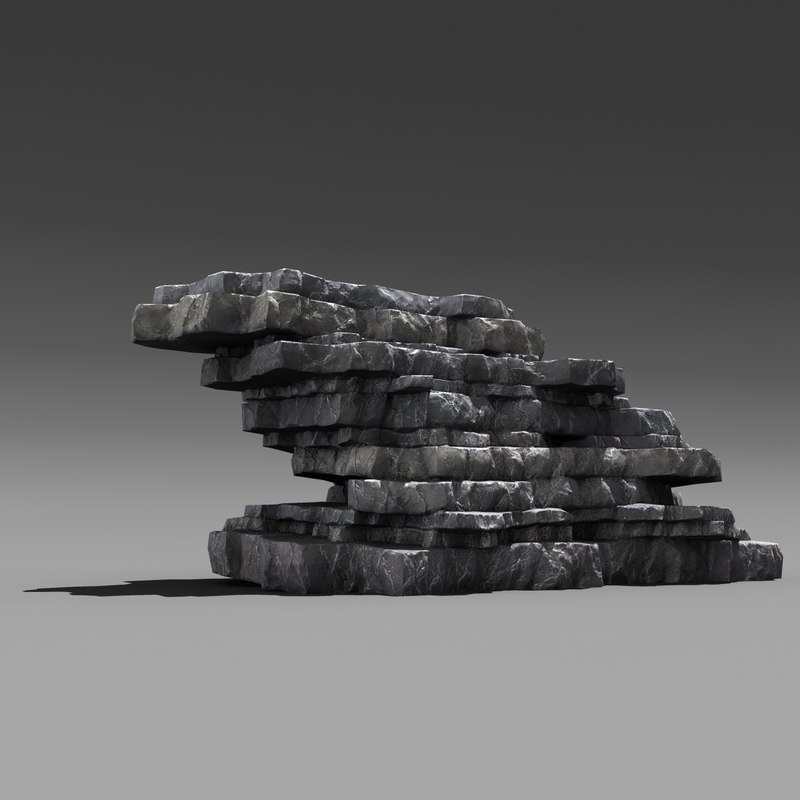 layered rock 3ds