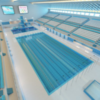 3d olympic sport swimming pool