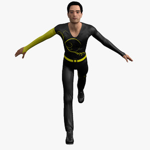 figure olympic player 3d model